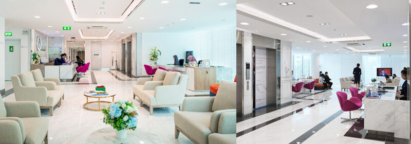 BIDH dental center waiting area